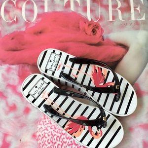 Kate Spade Remmie Wedge Flamingo Flip Flops